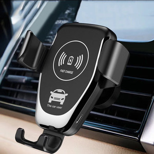 10W QI Wireless Charging for Samsung Galaxy S10 S9 S8 S6 S7 Car Mount Phone Holder for IPhone X XS MAX XR 8 Plus Cell Phone Wireless Charger