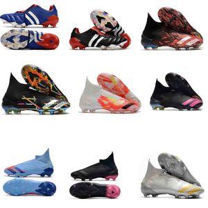 Orijinal futbol Ayakkabı Predator Hızlandırıcı Elektrik 18 + x Pogba FG Hızlandırıcı DB Hassas MANİ FG futbol Kramponlar