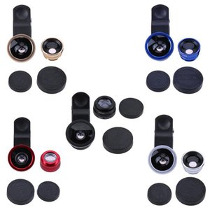 3-in-1 Universal Mobile Phone Lens Fish Eye+Wide Angle+Macro Camera Lens Clip Lens Kit Cellphone Mobile Phone Camera Cover