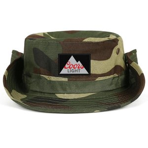 Fashionable Bill Coors Light beer Neutral Foldable Fisherman Hat Sports Team Cowboy cap Born in The Rockies art coors light sign logo 3D