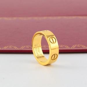 2020 نسخة موضة الأظافر الكلاسيكيالرجال كارتييه عصابة التيتانيوم الصلب النساء في 18K خاتم ارتفع خاتم من الذهب مع NO صندوق الأصل H11