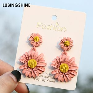 14 Styles Korean Cute Flower Drop Earrings For Women Girls Fresh Sweet Statement Earrings Bridal Wedding Fashion Jewelry New