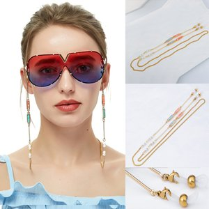 Fashion Eyeglass Chains Sunglasses Neck strap Cords Beaded Reading Glasses Chain Holder 81CM Glasses Chain Eyewear Accessories SH190924