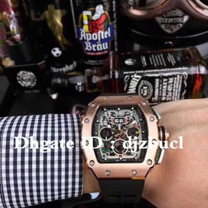 Montre de luxe entièrement automatique montre mouvement RM50-03 pointeur cadran lumineux 40x50x16mm profond boîtier en acier inoxydable étanche montre haut