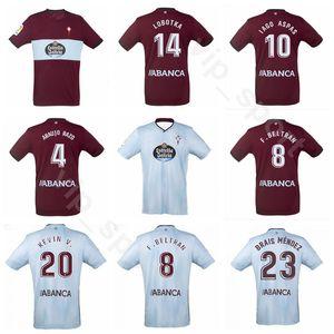 19-20 Futbol RC Celta de Vigo 10 IAGO ASPAS Forması 22 Santi Mina 5 TAMAM 13 RUBEN BLANCO LOBOTKA Futbol Gömlek Kitleri S-XXL