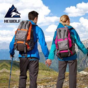 Hewolf Doğa Sporları Çanta 32L Ultralight Büyük Kapasiteli Su geçirmez Nefes Boş Sırt Çantası Açık Tırmanma Kamp Yürüyüş