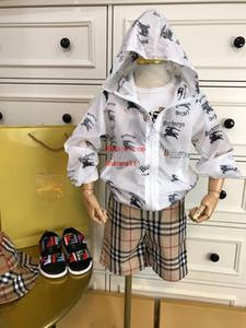 enfants vêtements de marque filles garçons blanc cheval de guerre imprimer protection solaire vêtements veste veste bébé garçon filles vêtements vêtements pour enfants