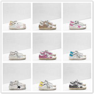 Haute qualité Old Style Chaussures de sport en cuir véritable villosités Derme Chaussures Casual Hommes et Femmes Luxe Superstar Entraîneur 35-45 C04