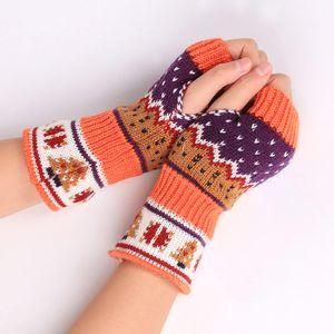 Autumn Winter Women Warmth Knitted Arm Fingerless Gloves Long Stretchy Mittens Men Women Winter Hand Arm Warm Female Gloves