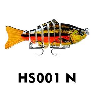 Hotsale 12cm Fishing Lure Multi Jointed Hard Bait Lifelike joint bait Wobblers Sinking Swimbait Fishing Lure Crankbait