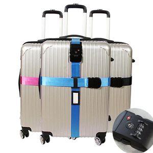Pieza para la unión con la cuerda incluido el equipaje cinturón ajustable correas de equipaje maleta con bloqueo Maleta desplazamiento de la cinta 16 @