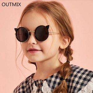 OUTMIX do olho de gato ÓCULOS DE CRIANÇA polarizados Meninas Crianças rosa Óculos para bebés óculos de sol bonito Eyewear UV400