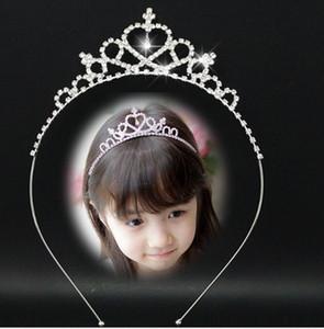 Güzel Parlak Kristal Gelin Tiara Parti Yarışması Gümüş Kaplama Taç Hairband Ucuz Düğün Aksesuarları kızlar Firkete Prenses Taç