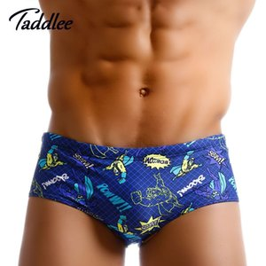 Taddlee Marque Sexy Hommes Maillots De Bain Maillots De Bain Boxer Shorts Slips Bikini Hommes Swim Briefs Natation Taille Basse Maillots De Bain J190715