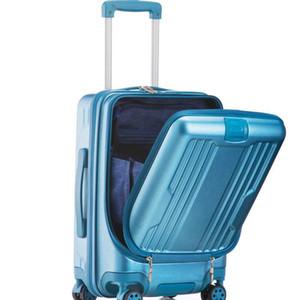 ABS + PC 20 Zoll hohe Kapazität rollende Gepäckbeutel Spinner-Studenten-Passwort-Koffer-Räder tragen Geschäft Computer Trolley-Reisetasche mit sich