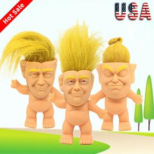 Faroot 10 cm Komik Oyuncak Trump Silikon Troll Doll Vinil Vintage Çirkin Bebek Oyuncak Komik Eylem Model Oyuncak Salon Dekor Şekil