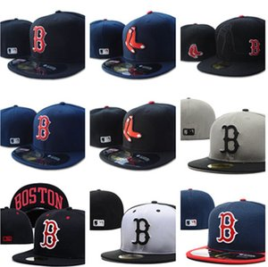 Good Sale New Boston Fitted Flat Hats sox Embroidered Closed Caps Chapeu Hip Hop Design hats