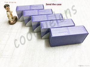 Freies Verschiffen 13 Farben colorblend Kasten-Kontaktlinsenkasten 40pcs = 20pairs + case send case 3 Tones Kontaktlinsenkasten Kontakt verrückte Linsenkästen