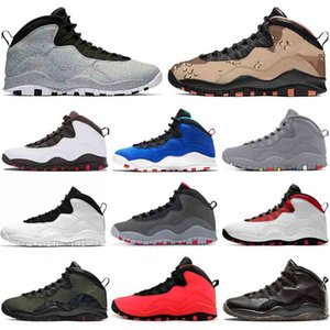 Nike Air Jordan retro 10 JUMPMAN Desert Camo Cement Tinker 10 Chaussures de Basketball 10s Westbrook CLASSE DE 2006 Im Back Stealth Cool Grey Mens Designer US 7-13