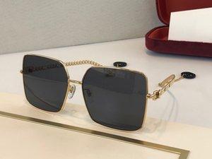 0724 nuevos hombres de las gafas de sol gafas de piloto marco cuadrado de la moda popular de venta de gafas modelo simple protección UV400 estilo con el caso 0724S