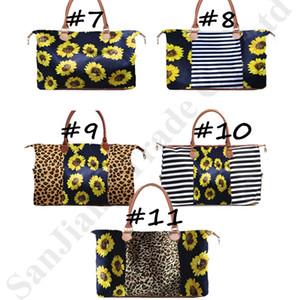 Stripe Leopard Duffel Bag Big Voyage rayé sac fourre-tout imprimé de tournesol Sac d'épaule Casual Sac Sarah Capacité Weekenders Sac C82008