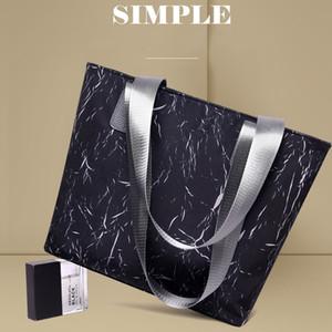 حقيبة CROSSBODY ABAY النساء حقائب الرخام ماء قماش حمل نسائية حقائب الكتف عالية السعة المرأة
