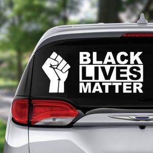 4 tipos novos estilos Anti-racismo slogan adesivos de carro Protesto adesivo Novas punho Mora Preto Matéria Decal para Car Styling Veículo Paster