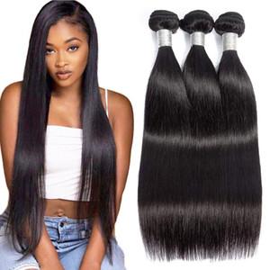 Grado 7A brasileña virginal recta del pelo humano teje paquetes de color doble natural de las tramas del pelo sin procesar extensiones 3pc / lot