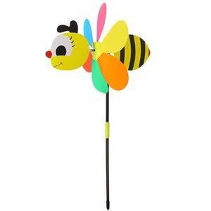 마당 정원 장식 장식 말뚝 바람 스피너 핫 새로운 3D 대형 동물 꿀벌 풍차 바람 회 전자 물매 마당 정원 장식