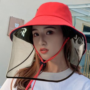 Adult Protective Hat Face Shield Hat With Face Shield Cover Anti-foam Fisherman Hats Men Women Caps Embroidery Baseball Cap Free Shipping
