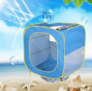 Las tiendas de bebé plegable Carpa piscina casa del juego de interior al aire libre de protección solar UV cobija a niños Campamento Playa Piscina Tiendas de campaña juguete DYP961