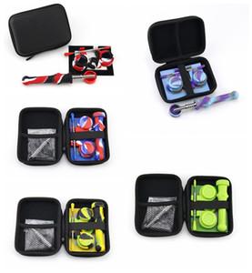 Silicone Collector NC Kit Set avec titane Nail Dabber outil silicone Cap Holder Wax Container Mat Zipper concentré Case Dab