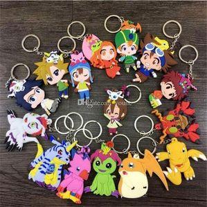 20 pcs Mix estilo Digimons Action Figure Brinquedos Agumon Gabumon Koromon Tanemon Gomamon Piyomon Patamon Bonecos Com Pingente Chaveiros Pyocomon