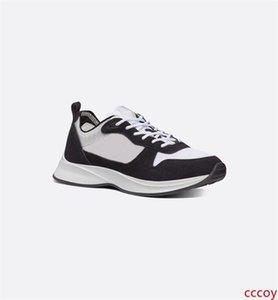 Zapatos diseñador de los hombres de lujo de la zapatilla de deporte B25 B25 Runner zapatilla de deporte Negro gamuza de cuero verdadero vestido de la plataforma del partido señores zapatilla de deporte de los calzados informales US6-12