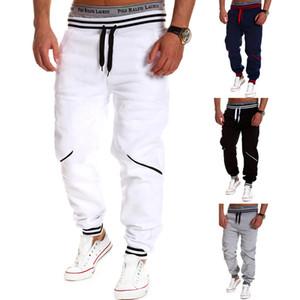 Winter Fashion Mens Letter Loose Sweatpants Stylish Casual Tie Belt Rowan Pants Pants Straight Black Trousers Pants