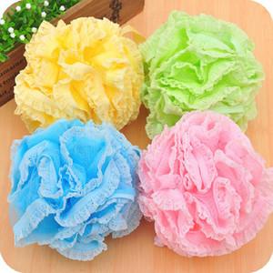 SH Lace malha Pouf Esponja de banho Spa Manuseio do Corpo Shower Scrubber bola colorida Bath Escovas Esponjas K5478