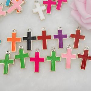 DIY El Yapımı Takı Bulguları İsa Haç Kolye Alaşım Charms Bilezik Aksesuarları Mesih Kolye 21X11X2mm Karışık renk