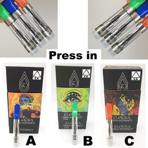 Eureka Carts Pure High Potency 0.8ml 1ml Vape Cartridges e Cigarettes press in Vaporizer Cartridges Vape Pens Pen 510 Atomizer Ceramic