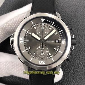 "V6F Aquatimer ""Squali"" versione 379.506 roccia grigia Dial ETA A7750 Automatic Chronograph Mens Watch interno ed esterno rotante lunetta Orologi sportivi"