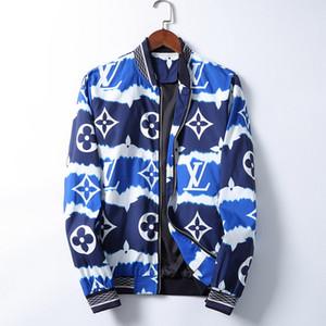 2020 Fashion Frühling Herbst Men Casual Street Floral-Jacken-Mann Wasserdichte Kleidung Herren Windjacke Mantel Männlich Outwear