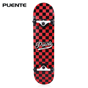 Skate durável dobro da tração de Longboard do skate de quatro rodas do bordo de PUENTE - cor da placa 5 do patim do rolamento de 9