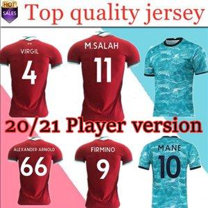 New 2020-21 Top Thai Qualidade versão jogador de futebol Jersey casa longe 3ª camisa de futebol personalizado Vermelho e azul