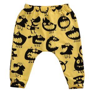Fall Fashion Children Clothing Kids Toddler Baby Boy Girl Cute Cartoon Monster Animal Harem Long Pants Trousers Bottom Leggings