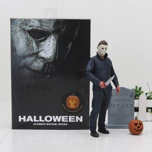 Anime Halloween Ultimate Michael Myers Estatueta PVC Action Figure Collectible Modelo Boneca de Brinquedo de presente das crianças