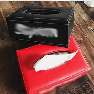 Moda Kağıt Havlu Kutu S Harf Baskı Deri Doku Kutular 2 Renk Marka Tasarım Yüksek Kalite Doku Kutular