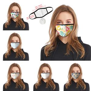 Kreise gebrochener Blumen 3D-Druck Designer Gesichtsmaske Baumwolle wiederverwendbare Gesichtsmasken heraus Tür-Sport Reiten Masken Baumwolle Designer-Maske