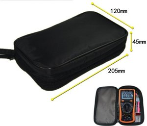 Multimeter Black Canvas Bag 20*12*4cm for UT61 Series Digital Multimeter Cloth Durable Waterproof Tools bag
