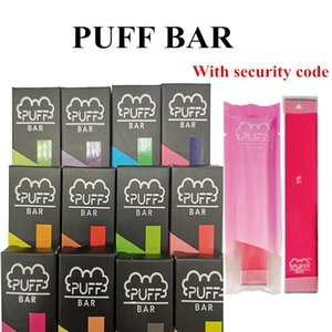 Códigos Designer vape Puff Bar Pods Kit 280mAh Battery 1,3ml Cartucho Vape Pen Com segurança para bares sopro