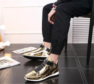 scarpe 2020 di alta qualità coreano moda stilista s argento oro nero lucido brillante tappeto rosso preferito Mr. eleganti scarpe di qualità 40-45