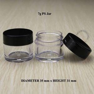 100pcs 7g Boş Kozmetik Kavanoz Oje Glitter Sanat İçin Kapak Numune Kapları Kap Kutusu ile Küçük Plastik Jar Packaging